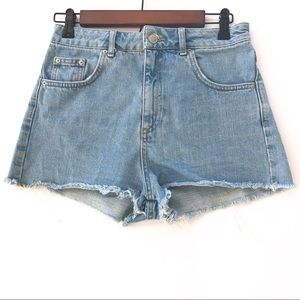 Top shop High Rise Denim Shorts | Size 10 | NWOT